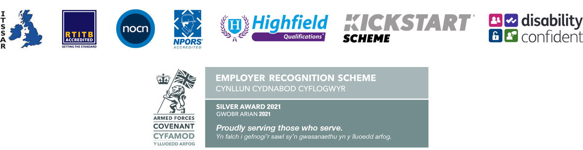 City & Guilds, BTEC, ITSSAR, RTIB, Highfield Qualifications, IOSH Approved training provider