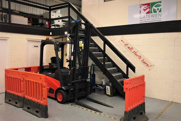 Forklift truck used for training course in Wrexham