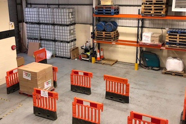 Forklift truck training obstacle course