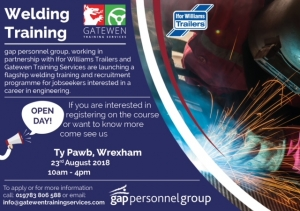 Ifor Williams Trailers' Flagship Welding  Training and Recruitment Day comes to TÅ· Pawb